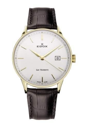 Edox Les Vauberts Date elegante Herrenuhr 8mm flach 70172 37JA AID