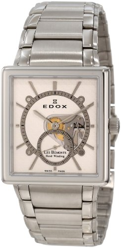 Edox Mens 72012 3 AIN Les Bemonts Hand Winding White Dial Watch