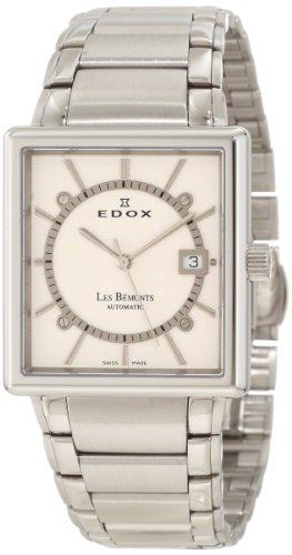 Edox Mens 82005 3 AIN Les Bemonts Rectangular Automatic Watch