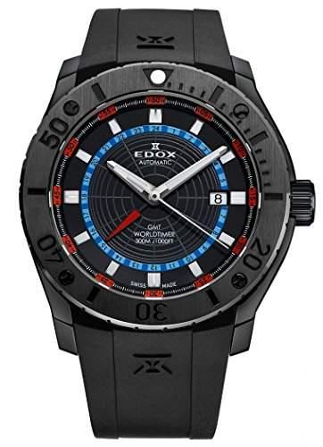 Edox Class-1 GMT Worldtimer Automatik 93005 37N NOBU
