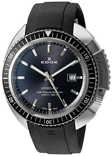 EDOX Unisex Armbanduhr EDOX HYDRO SUB Analog Quarz Kautschuk 53200 3NGCA GIN