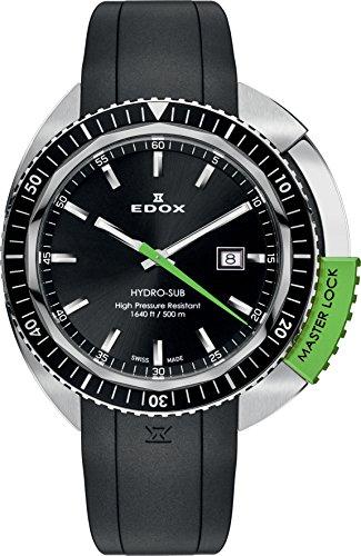 EDOX Unisex Armbanduhr EDOX HYDRO SUB Analog Quarz Kautschuk 53200 3NVCA NIN