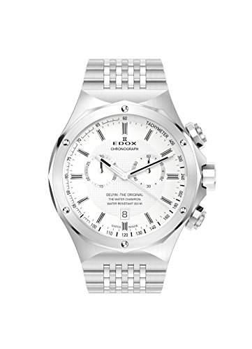 EDOX DELFIN THE ORIGINAL Unisex-Armbanduhr Analog Quarz Edelstahl 10106 3 AIN