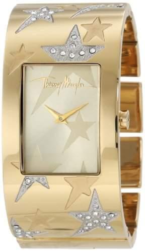 Thierry Mugler Damen-Armbanduhr Analog Edelstahl gold 4707702