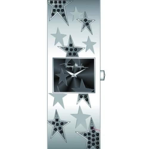 Thierry Mugler Damen-Armbanduhr Analog Edelstahl Silber 4712302