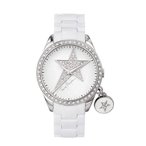 Thierry Mugler Damen-Armbanduhr Analog Plastik weiss 4714202