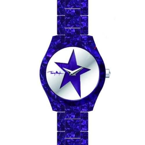 Thierry-4719501Damen-Armbanduhr-Quarz Analog-Zifferblatt Violett Armband Acetat violett