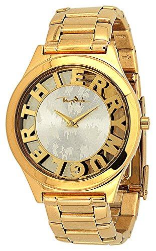 Thierry mugler 4724502 montre femme quartz analogique cadran bracelet Stahl Gold