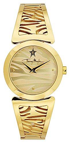 Thierry Mugler Armbanduhr aus Stahl fuer Damen 32 mm