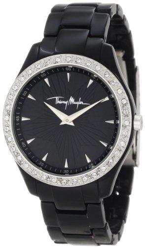 Thierry Mugler Damen Armbanduhr Analog Plastik schwarz 4714601