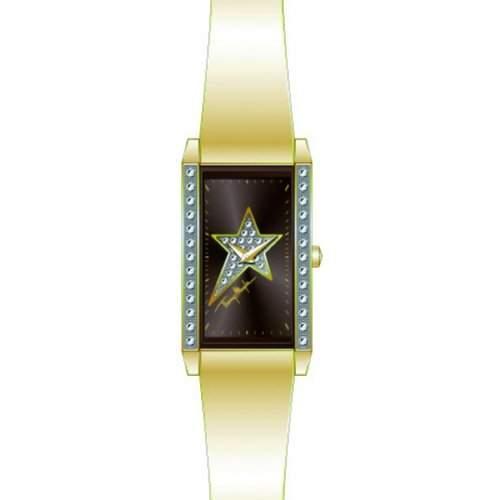 Thierry Mugler Damen-Armbanduhr Analog Leder gold 4707904