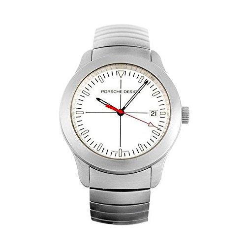 PORSCHE Armbanduhr Analog Quarz 6601 41 White PLATA