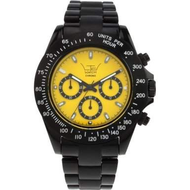 LTD Watch Unisex-Armbanduhr Chrono Analog Kunststoff schwarz LTD 030205
