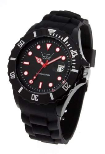 LTD Watch Unisex-Armbanduhr Silicon Analog Silikon schwarz LTD 031302