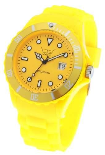 LTD Watch Unisex-Armbanduhr Analog Plastik gelb LTD 051302