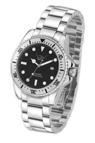 LTD Watch Unisex-Armbanduhr Ceramic Diver Analog Quarz Keramik LTD 320601