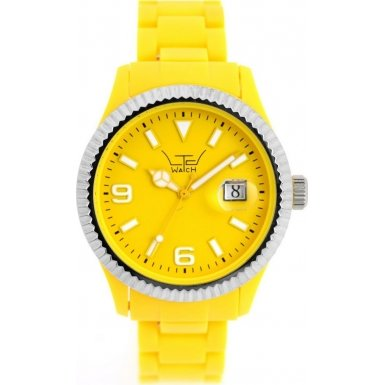 LTD Watch Unisex Armbanduhr Plastic Ex Analog Kunststoff gelb LTD 051001