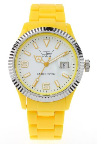 LTD Watch Unisex Armbanduhr Plastic Ex Analog Kunststoff gelb LTD 051002
