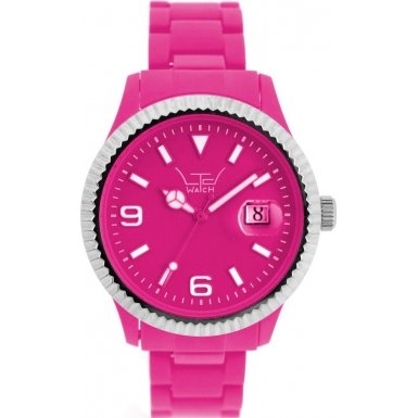 LTD Watch Unisex Armbanduhr Plastic Ex Analog Kunststoff pink LTD 091001