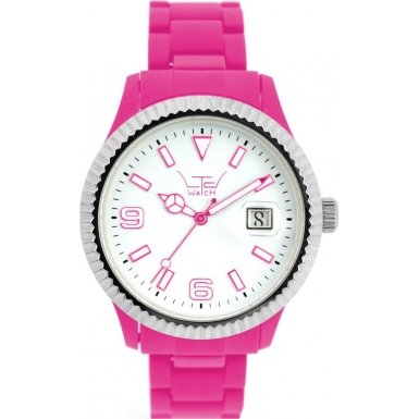 LTD Watch Unisex Armbanduhr Plastic Ex Analog Kunststoff pink LTD 091002