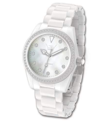 Ltd Watch Damen-Armbanduhr Ltd Analog Keramik weiss LTD-020623