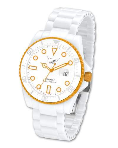 LTD Watch Unisex-Armbanduhr Ceramic Diver Analog Quarz Keramik LTD-021803