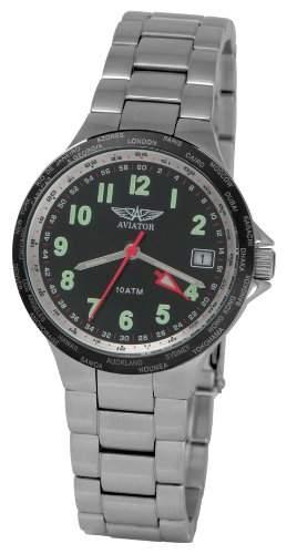 Aviator Damen-Armbanduhr Analog Edelstahl AVW11566L02