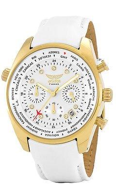 AVIATOR avw5839l211 Damen Welt Staedte Armbanduhr