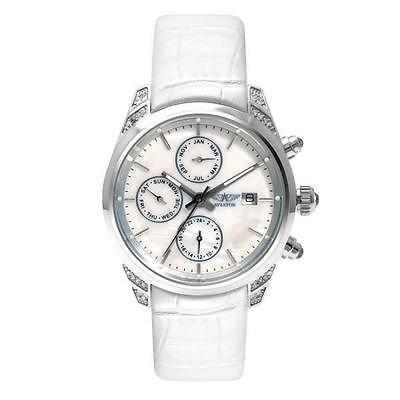 AVIATOR Damen avw9010l62 Damen weiss Leder Armbanduhr