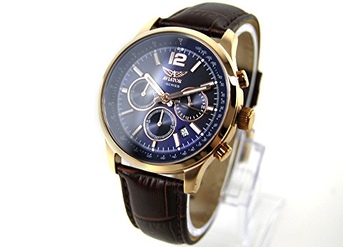 AVIATOR watch Chronograph AVW1812G283 Leder braun