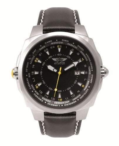 Aviator Herren World Time Uhr