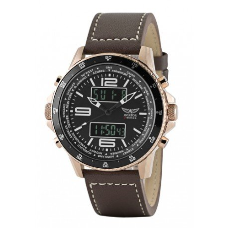 Herren Aviator Armbanduhr analog digital AVW1931G254