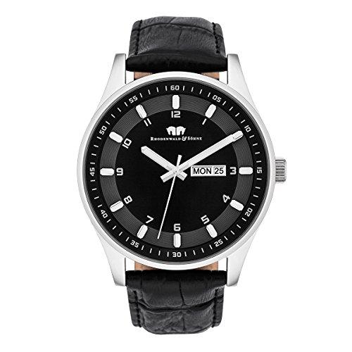 Rhodenwald Soehne Uhr mit Japanischem Quarzuhrwerk 10010109 schwarz 43 mm