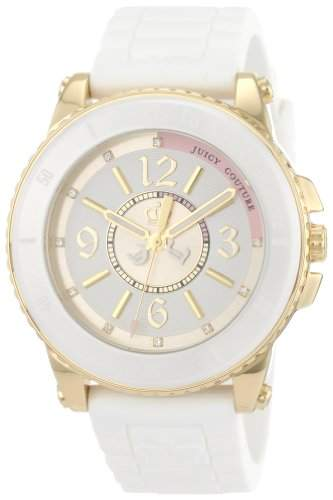 Juicy Couture Ladies Pedigree White Rubber Strap Watch - 1900787