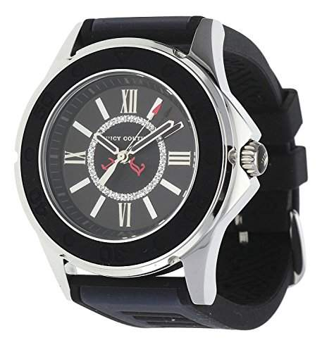 Juicy Couture Ladies Rich Girl BlackNavy Silicone Strap Watch- 1900875