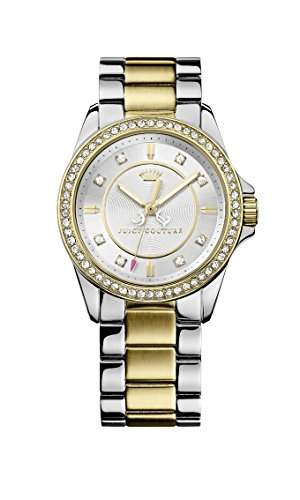 Juicy Couture Damen-Armbanduhr Stella Analog Quarz Edelstahl 1901078
