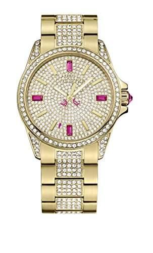 Juicy Couture Damen-Armbanduhr Stella Analog Quarz Rotgold 1901084