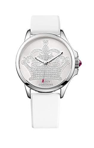 Jetsetter WomenJuicy Couture Damen-Armbanduhr 17251562 Analog-Anzeige und weisse Lederband 1901095