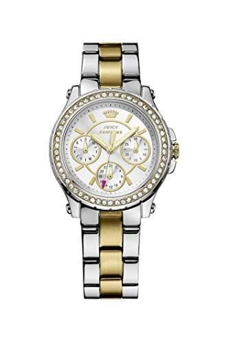 Juicy Couture Damen-Armbanduhr Pedigree Analog Quarz Edelstahl 1901107