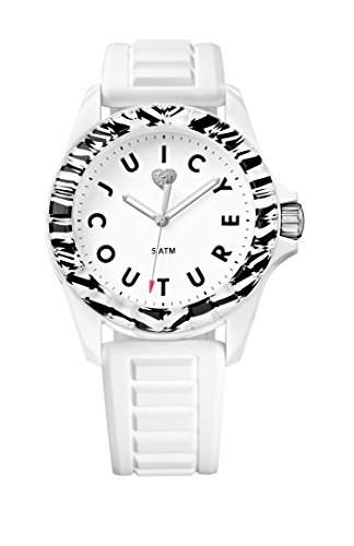 Juicy Couture - 1901159 Damen-Armbanduhr-Quarz-Analog Kunststoff Weiss