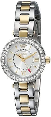 Juicy Couture Damen-Armbanduhr Armband Zweifaerbiger Edelstahl Zwei Ton Gehaeuse Edelstahl Quarz 1901229