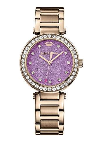 Juicy Couture 1901329 Womens Cali Rose Tone Stone Set Watch