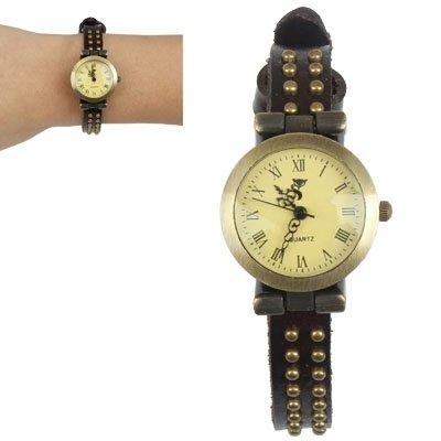 SunSky Armband Leder kupferartig Metall Dekoration Dekoration Quartz