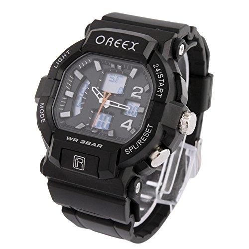 SunSky Dual Display Digital Watch Sport Armbanduhr by diebelleu Farbe Schwarz
