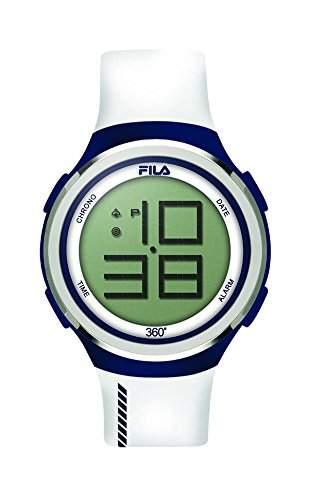 FILA Unisex-Armbanduhr Digital Quarz 38-038-103 FILACASUAL Weiss Blau Silikon