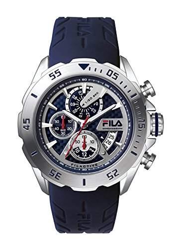 FILA Herrenuhr Armbanduhr Quarz 38-041-101 FILACTIVE Silber Blau Sport Chronograph