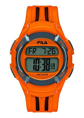 FILA Unisex-Armbanduhr Digital Quarz 38-048-101 FILACASUAL Orange Plastik