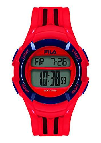 FILA Unisex-Armbanduhr Digital Quarz 38-048-102 FILACASUAL Rot Plastik