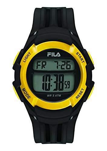 FILA Unisex-Armbanduhr Digital Quarz 38-048-103 FILACASUAL Schwarz Gelb Plastik