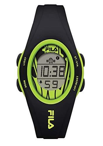 FILA Unisex-Armbanduhr Digital Quarz 38-050-103 FILACASUAL Schwarz Gruen Plastik